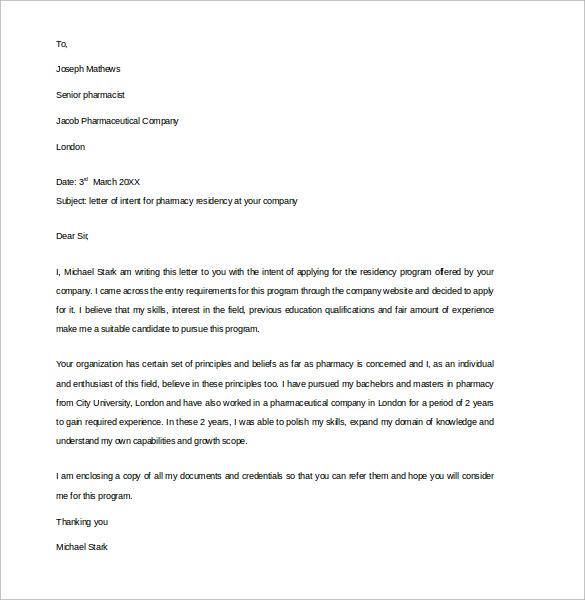 Pharmacy Letter colbro - pharmacy letter