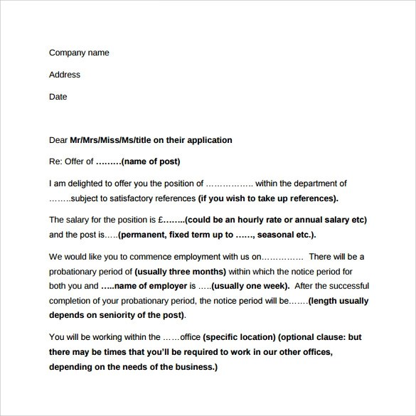 Sample Employment Letter - 13+ Free Documents in Word, PDF
