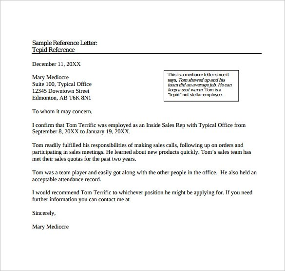 15+ Free Reference letters Sample Templates