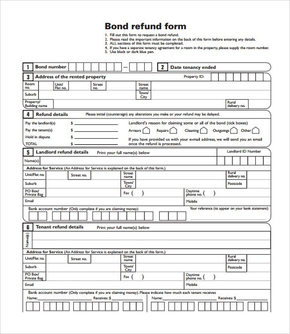 13 Bond Release Form Templates to Download for Free Sample Templates - bond release form