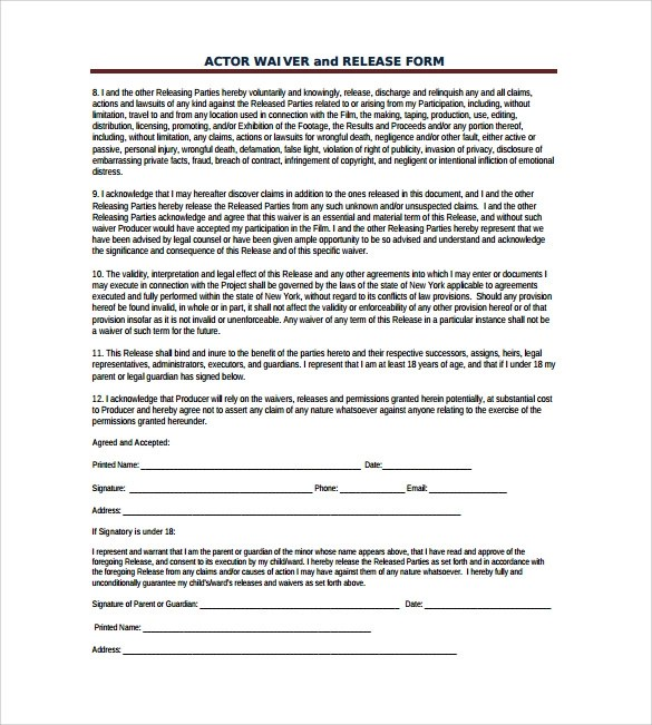 Publicity Release Form Organization Media Release Form Template - release of mortgage form