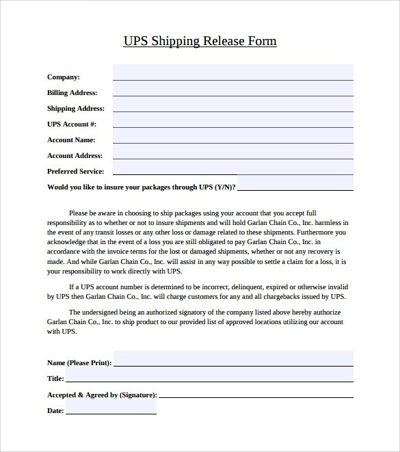 Signature Release Form Ups | Letter To High School Freshman