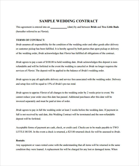 sample event planner contract template sample wedding contract free examples format event planning contract templates