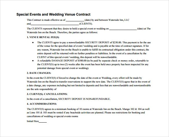 Sample Wedding Contract - 25+ Documents In PDF, Word
