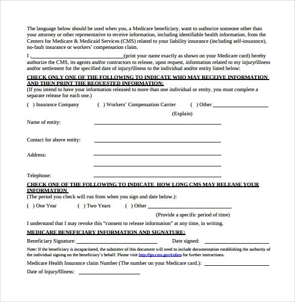 10 Beneficiary Release Form Templates to Download for Free Sample - beneficiary release form