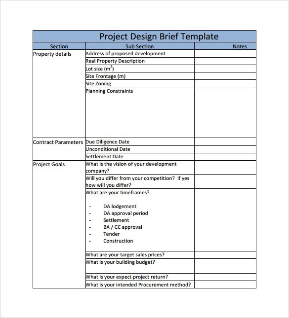 8 Project Brief Templates to Download for Free Sample Templates