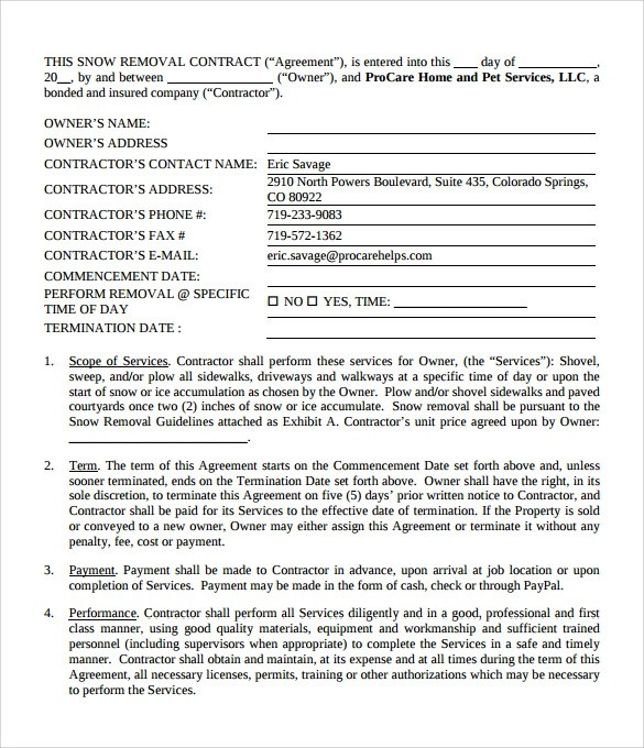 Doc585610 Contractor Agreement Template Word Contract – Employment Contract Template Word