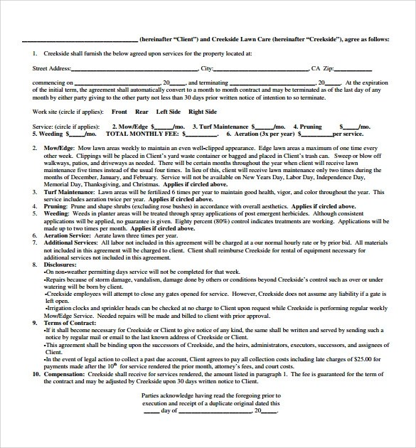 Vendor Service Contract Template  Create Professional Resumes
