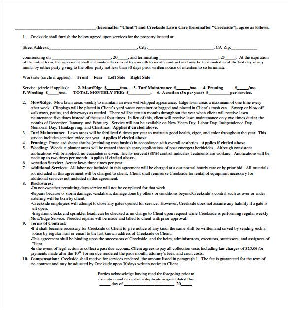 Vendor Service Contract Template | Create Professional Resumes