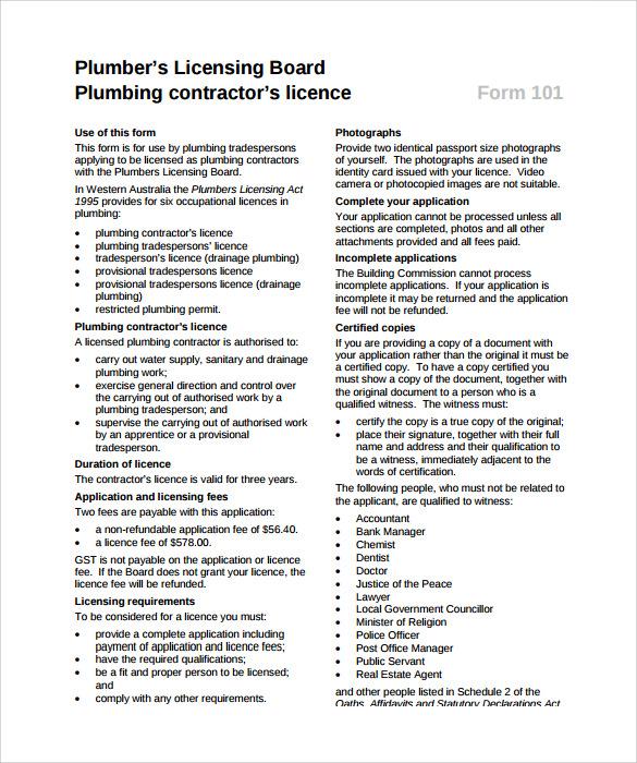 Plumbing Contract Template Hvac Maintenance Agreement Template - plumbing bid proposal template