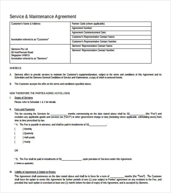 10 IT Support Contract Templates to Download for Free Sample Templates - Yearly Contract Template