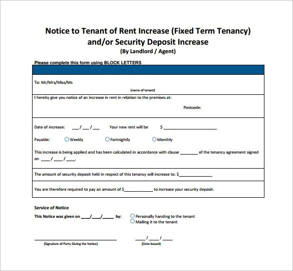 100+ Rent Increase Letter Section 13 Hud Increases Value Of - rent increase letter