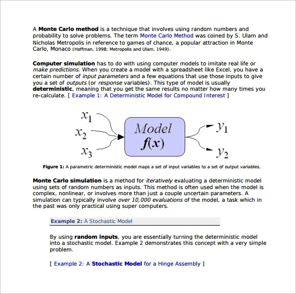 12 Monte Carlo Simulation Templates to Download Sample Templates