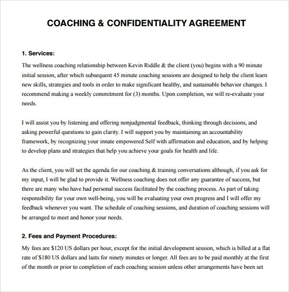 ... Coaching Contract Template   11+ Download Free Documents In PDF   Coaching  Contract Template ...