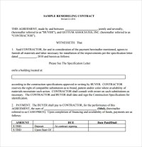 10 Remodeling Contract Templates to Download for Free ...