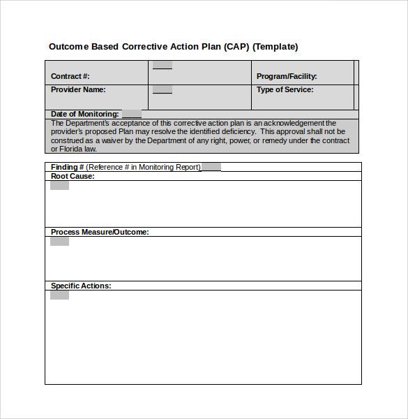 Sample Employee Corrective Action Plan | Sample Job Application Letter
