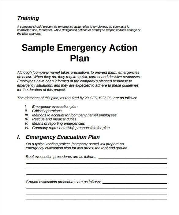 Sample Emergency Action Plan - 11+ Free Documents in Word, PDF