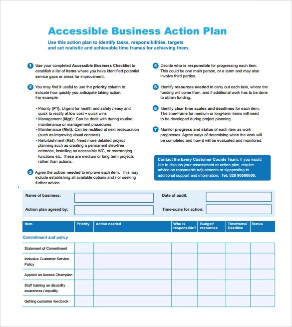 11+ Sample Business Action Plans Sample Templates - action plan template for business