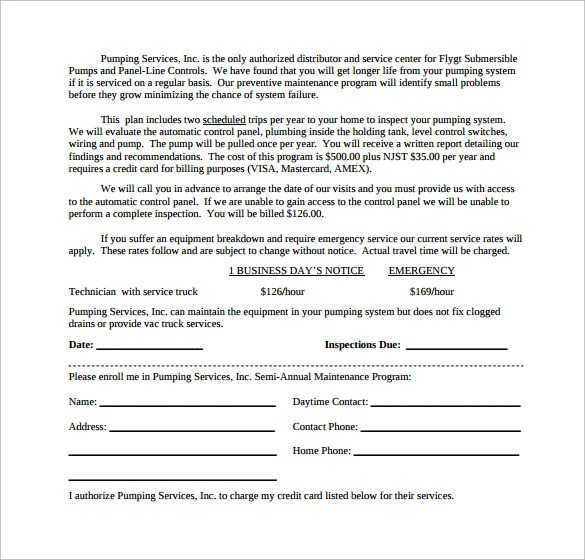 Sample Hvac Maintenance Contract Template – Maintenance Contract Template