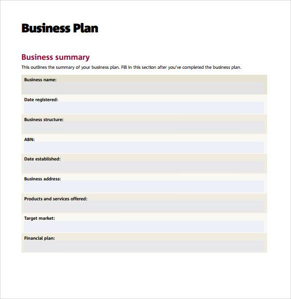 Business Plan Sample Uk