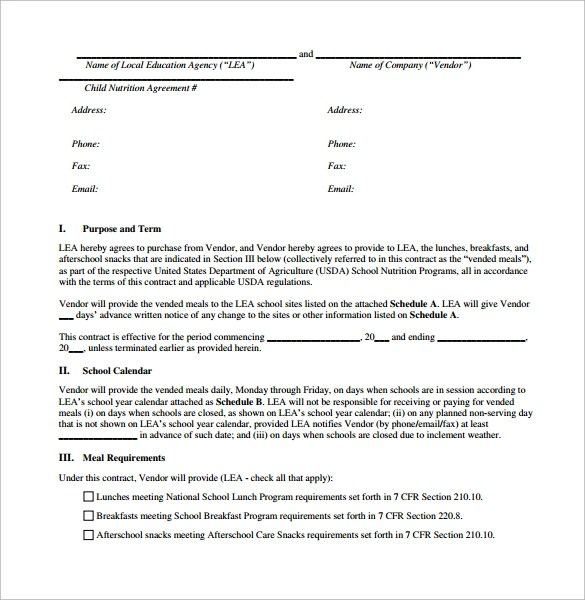 event vendor contract template - 28 images - 3 vendor agreement - vendor contract agreement