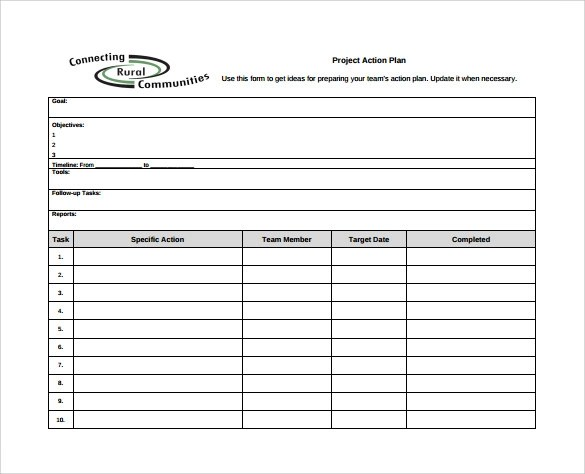 project action plan template - Goalgoodwinmetals - action plans templates