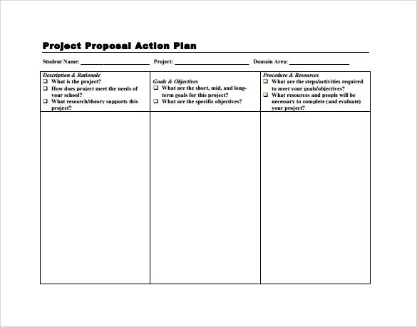project proposal word template