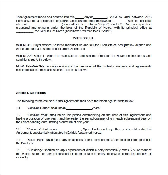 Transport Contract Agreement Format | Resume Maker: Create