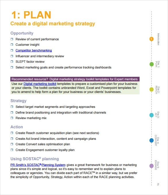 15 Marketing Action Plan Templates to Download for Free Sample - action plan in pdf