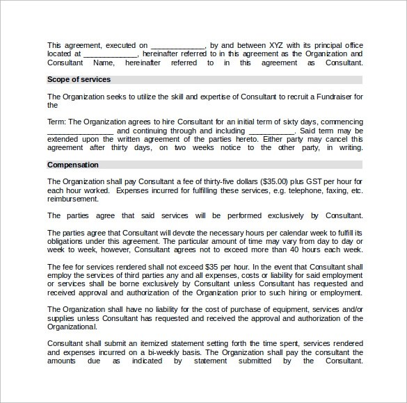 10+ Consulting Contract Templates Sample Templates - consulting agreement sample in word