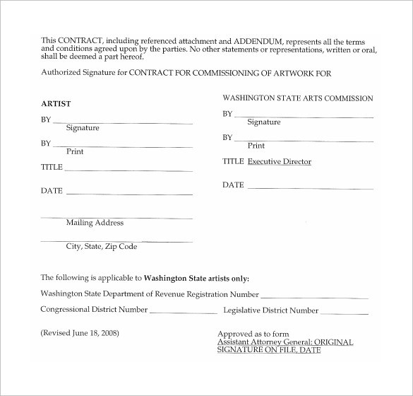 Artist Contract Templates. Download, 8 Music Producer Contract ...