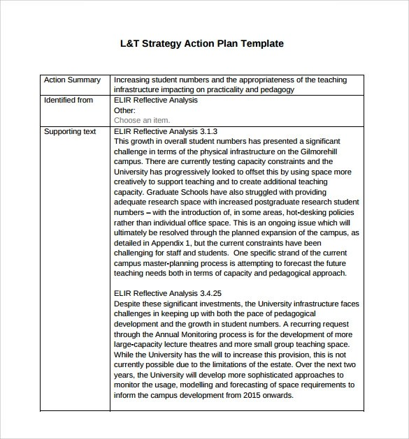 strategy and action plan template - Onwebioinnovate - strategic action plan template