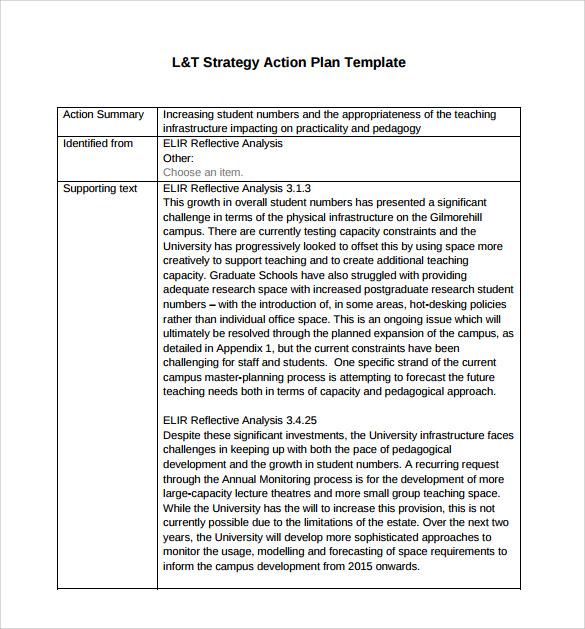 Strategic Plan Template Word – Strategic Plan Template Word