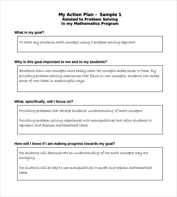 Sample School Action Plan - 6+ Documents in PDF - action plan sample template