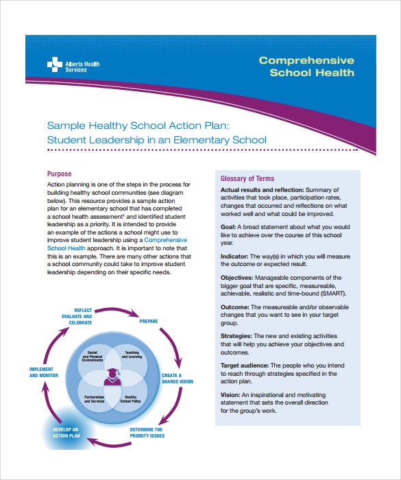 7 Sample School Action Plans Sample Templates Sample School Action