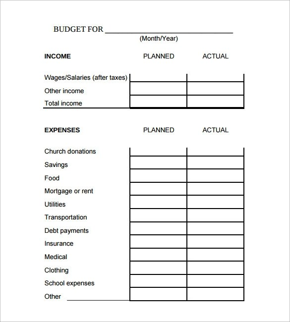 9 Family Budget Calculator Templates to Download for Free Sample