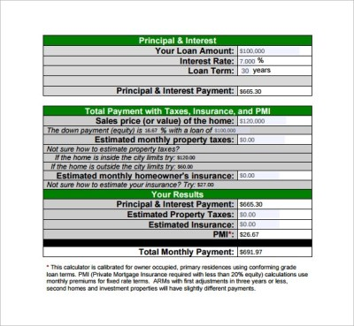9 Loan Payment Calculator Templates to Download for Free   Sample Templates