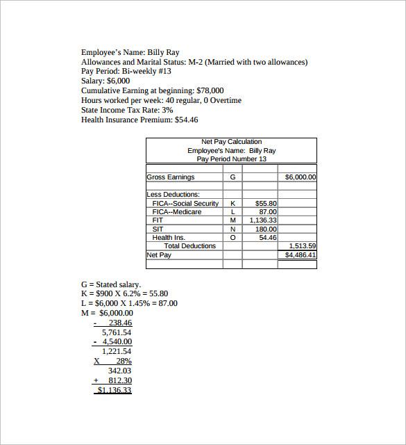 net pay calculator - Mucotadkanews