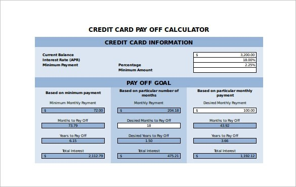 credit card rate calculator - Funfpandroid