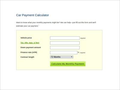 9+ Sample Car Loan Calculators | Sample Templates