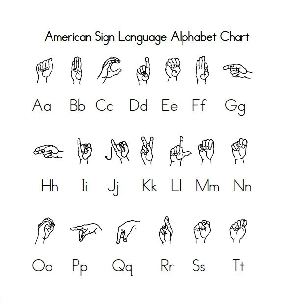 10+ Sample Sign Language Alphabet Charts Sample Templates - sign language alphabet chart