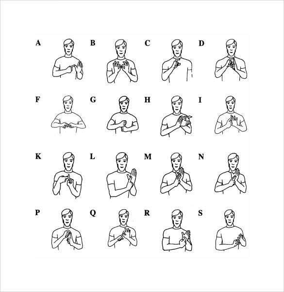 10+ Sample Sign Language Alphabet Charts Sample Templates