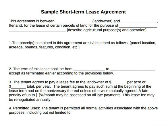 10 Land Rental and Lease Form Templates to Download Sample Templates