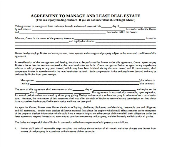 9 Real Estate Rental and Lease Form Templates to Download Sample - real estate rental and lease form