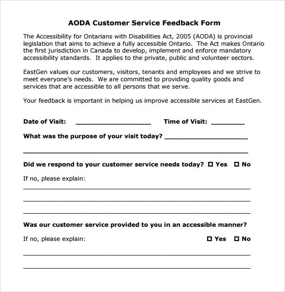 Meeting Feedback Form Template  NodeCvresumePaasproviderCom