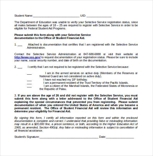 14 Selective Service Registration Form Templates to Download - selective service registration form