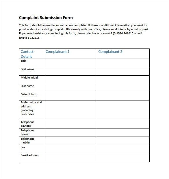 Sample Financial Ombudsman Service Complaint Form - 8+ Download Free