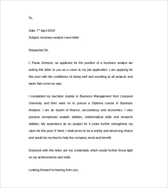 Sample Cover Letter Example - 24+ Download Free Documents in Word, PDF - sample cover letter for resume free download