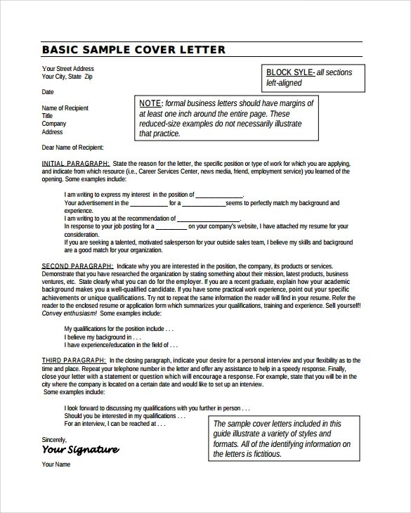 25 Cover Letter Example Download For Free Sample Templates