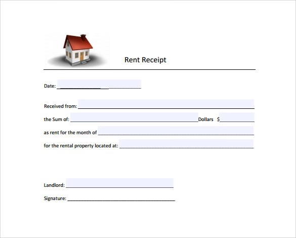 Sample Rent Receipt Form Template - 7+ Free Documents In - rent receipt form